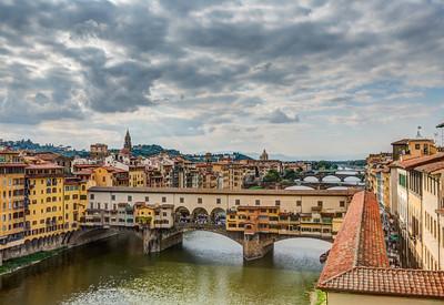 Ponte Vecchio from Uffizi, Firenze, Tuscany, Italy