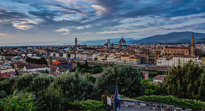 Firenze Overview from Piazzale Michelangelo, Tuscany, Italy