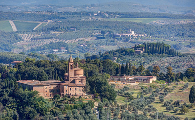 Tuscan Countryside viewed from the Torre del Mangia
