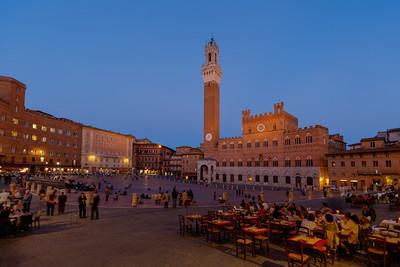 Sunset, Piazza del Campo