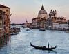 Sunset with Santa Maria della Salute from the Academia Bridge