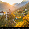 Europe - Italy - Italia - Alps - Province of South Tyrol - Tyrol Castle - Tirol Castle - Castel Tirolo - Schloss Tirol - Beautiful hilltop castle dating from the Middle Ages situated above surrounding famous vineyards