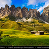 Europe - Italy - Italia - Alps - Dolomites - Dolomiti - Trentino-Alto Adige - Province of South Tyrol - Gardena Pass - Passo Gardena - High mountain pass at elevation of 2,136 m (7,008 ft) above sea level, connecting Sëlva in Val Gardena with Corvara in Val Badia
