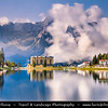 Europe - Italy - Italia - Alps - Dolomites - Dolomiti - Province of Belluno - Lake Misurina - Lago di Misurina - Iconic Alpine lake at elevation 1,754 m (5,755 ft)