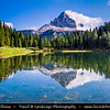 Europe - Italy - Italia - Alps - Dolomites - Dolomiti - Province of Belluno - Lago d'Antorno - Lake Antorno - Picturesque Alpine lake at elevation 1,866 m