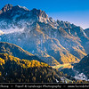 Europe - Italy - Italia - Alps - Dolomites - Dolomiti - Province of Belluno - Veneto Region - Colle Santa Lucia - Alpine area between majestic mountains of Pelmo Dolomites and Civetta - Winter time with heavy snow cover