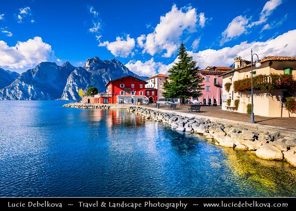 Europe - Italy - Italia - Alps - Trentino-Alto Adige/Südtirol Region - Province Trentino - Lake Garda - Lago di Garda - Torbole - Small historical town on Northern gulf of Lake Garda