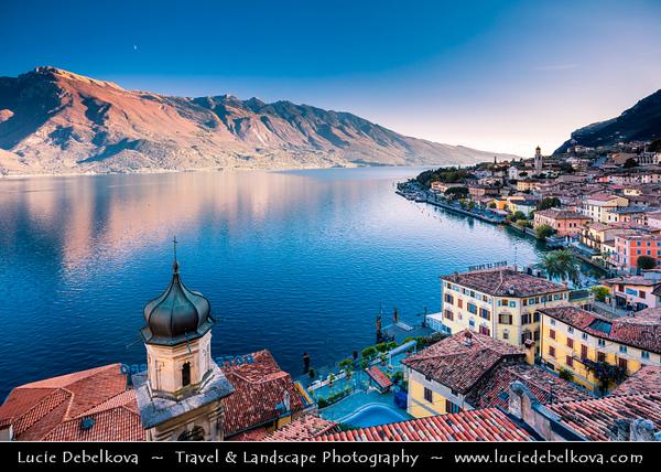 Europe - Italy - Italia - Alps - Lombardy region - Province of Brescia - Lake Garda - Lago di Garda - Limone sul Garda - Alpine lake resort with picturesque historic old town around little port