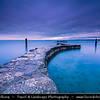 Europe - Italy - Italia - Alps - Veneto Region - Province of Verona - Lake Garda - Lago di Garda - Punta San Vigilio - Small promontory on western coast of Garda - One of Lake Garda most picturesque villages - Twilight - Blue Hour - Dusk - Night