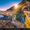 Europe - Italy - Italia - Alps - Lombardy region - Province of Brescia - Lake Garda - Lago di Garda - Limone sul Garda - Alpine lake resort with picturesque historic old town around little port