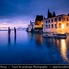 Europe - Italy - Italia - Alps - Veneto Region - Province of Verona - Lake Garda - Lago di Garda - Punta San Vigilio - Small promontory on western coast of Garda - One of Lake Garda most picturesque villages - Twilight - Blue Hour - Dusk - Night