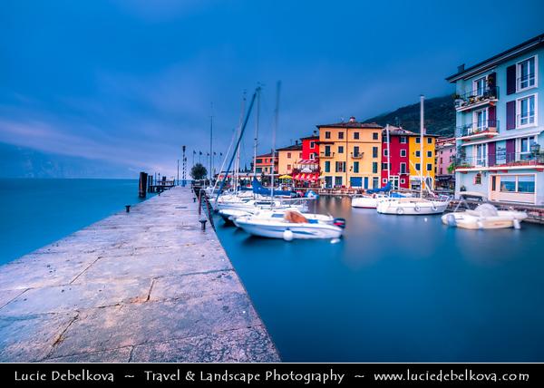 Europe - Italy - Italia - Alps - Veneto Region - Province of Verona - Lake Garda - Lago di Garda - Brenzone sul Garda - Castelletto - Small fishing village on eastern shore of Lake Garda