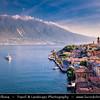 Europe - Italy - Italia - Alps - Lombardy region - Province of Brescia - Limone sul Garda - Picturesque village on shore of Lake Garda - Lago di Garda
