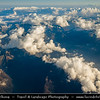 Europe - Italy - Italia - Aerial view over Alps - Alpen - Alpi - Alpes - Great mountain range of Europe under snow cover at its peaks