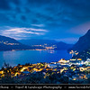 Europe - Italy - Italia - Alps - Lombardy Region - Bergamo Province - Lake Iseo - Lago d'Iseo - Alpine lake surrounded by spectacular mountains