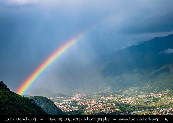 Europe - Italy - Italia - Alps - Lombardy Region - Bergamo Province - Parco dell'Alto Sebino - Spectacular valley leading to Lake Iseo - Lago d'Iseo