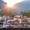Europe - Italy - Italia - Alps - Lombardy Region - Bergamo Province - San Giovanni Bianco - Historical town on shores of Brembo river located in Val Brembana