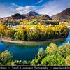 Europe - Italy - Italia - Alps - Lombardy Region - Bergamo Province - River bend on Brembo river