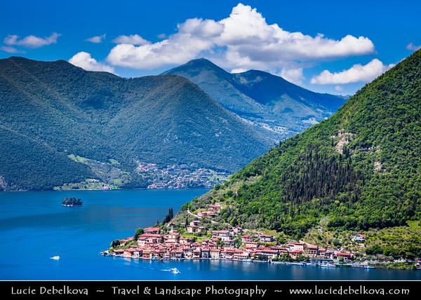 Europe - Italy - Italia - Alps - Lombardy Region - Bergamo Province - Lake Iseo - Lago d'Iseo