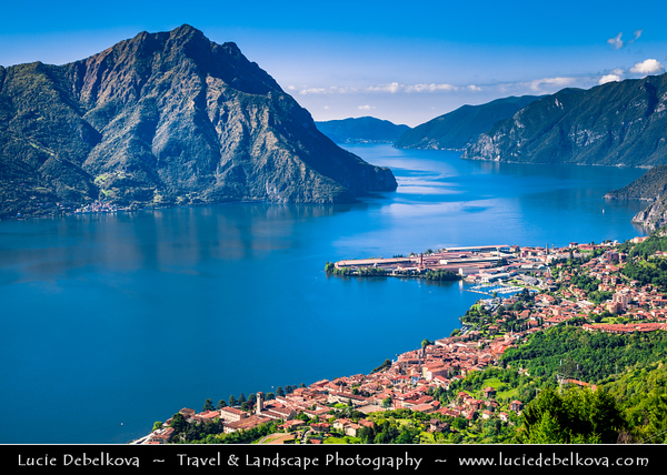 """Europe - Italy - Italia - Alps - Lombardy Region - Bergamo Province - Lake Iseo - Lago d'Iseo - Lovere - Beautiful historical town & one of """"The most beautiful villages in Italy"""""""