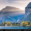 Europe - Italy - Italia - Alps - Trentino Province - Sarca Valley - Lake Valley - Valle dei Laghi - Lake Toblino with Toblino Castle - Castel Toblino