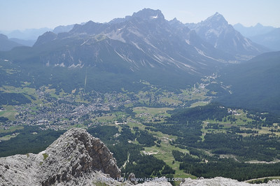 view toward Cortina d'Ampezzo