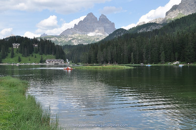 Lago Misurina with Tre Cime di Lavaredo in the back