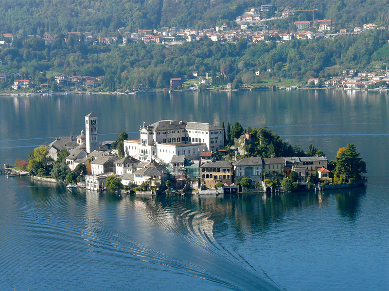 Be sure to take the boat over to Isola San Giulio when you visit Orta San Giulio, Italy.
