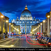 Europe - Italy - Italia - Rome - Roma - Vatican City - Vaticano - Papal Basilica of Saint Peter - Basilica Sancti Petri - Basilica Papale di San Pietro - Saint Peter's Basilica - The largest interior of any Christian church in world