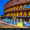 Europe - Italy - Italia - Rome - Roma - Colosseum - Coliseum - Flavian Amphitheatre - Anfiteatro Flavio - Colosseo - Elliptical amphitheatre & Largest ever built in Roman Empire - One of greatest works of Roman architecture & Roman engineering - Iconic & famous landmark