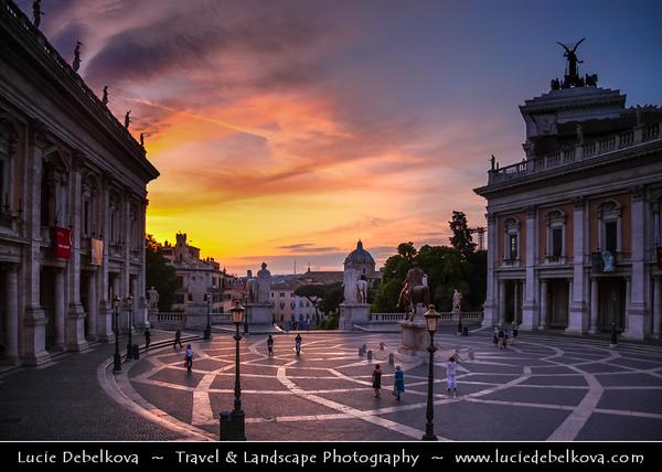 Europe - Italy - Italia - Rome - Roma - Piazza del Campidoglio at top of Capitoline Hill - Capitol Hill - Colle del Campidoglio