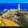 Europe - Italy - Italia - Sardinia - Italian island in Mediterranean Sea - Province of Olbia-Tempio - Faro di Capo Ferro Lighthouse