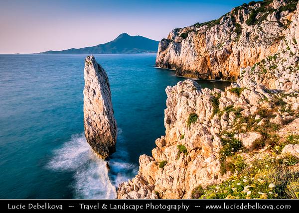 Europe - Italy - Italia - Sardinia - Italian island in Mediterranean Sea - Costa Verde - Buggerru - Spectacular Rocky Coast