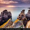 Europe - Italy - Italia - Sardinia - Italian island in Mediterranean Sea - Province of South Sardinia - Sant'Antioco Island - Nido dei Passeri - Spectacular Rocky Coast