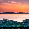 Europe - Italy - Italia - Sardinia - Italian island in Mediterranean Sea - Province of South Sardinia - Chia Bay - Baia di Chia - Coastal area with beautiful beaches, golden sands & turquoise waters