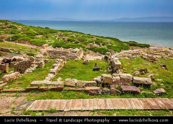 Europe - Italy - Italia - Sardinia - Italian island in Mediterranean Sea - Province of Oristano - Capo San Marco - Tharros - Punic-roman town founded in eighth century BC by Phoenicians