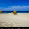 Europe - Italy - Italia - Sardinia - Italian island in Mediterranean Sea - Province of Carbonia-Iglesias - Spiaggia di Porto Pino - Spiaggia delle Dune - White Sand Dune Beach near Porto Pino with turquoise water