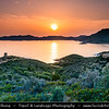 Europe - Italy - Italia - Sardinia - Italian island in Mediterranean Sea - Province of South Sardinia - Chia Bay - Baia di Chia - Coastal area with beautiful beaches, golden sands & turquoise waters