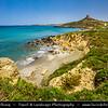 Europe - Italy - Italia - Sardinia - Italian island in Mediterranean Sea - Province of Oristano - Capo San Marco - Torre spagnola di San Giovanni di Sinis