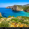Europe - Italy - Italia - Sardinia - Italian island in Mediterranean Sea - Spiaggia di Cala Domestica - One of most picturesque beaches of south-west Sardinia - Sandy cove wedged into natural inlet between craggy rocks