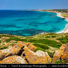 Europe - Italy - Italia - Sardinia - Italian island in Mediterranean Sea - Province of Oristano - Capo San Marco - Beautiful beaches around Torre spagnola di San Giovanni di Sinis