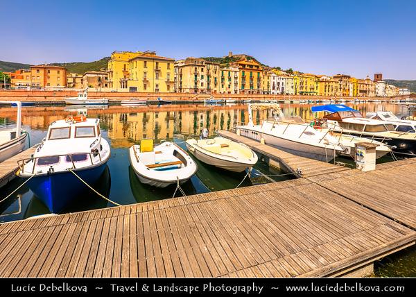 Europe - Italy - Italia - Sardinia - Italian island in Mediterranean Sea - Bosa - Historical town with castle