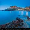 Europe - Italy - Italia - Sardinia - Italian island in Mediterranean Sea - Province of Sassari - Castelsardo - Picturesque historic town with castle on northern coast of Sardinia at Gulf of Asinara