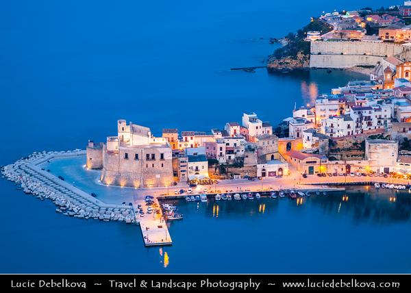 Italy - Italia - Sicily - Sicilia - Trapani - Western Sicily - Castellammare del Golfo - Casteddammari - Sea- Fortress (castle (on the) sea) of the Gulf - View over harbour