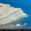 Italy - Italia - Sicily - Sicilia - Province of Agrigento - Agrigento - Scala dei Turchi - Realmonte -  White Rock Formation on shores of Mediterranean sea