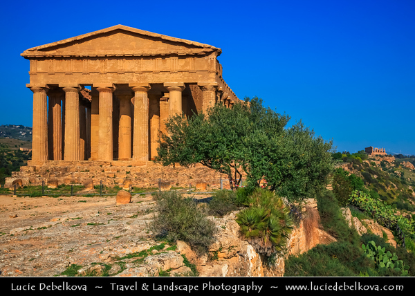 Italy - Italia - Sicily - Sicilia - Province of Agrigento - Agrigento - Valley of the Temples - Valle dei Templi - World Heritage Site - Large sacred area on the south side of the ancient city where seven monumental Greek temples in the Doric style were constructed during the 6th and 5th centuries BC