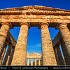 Italy - Italia - Sicily - Sicilia - Trapani - Western Sicily - Segesta - Seggesta - Egesta - Political center of the Elymian people - Unusually well preserved Doric temple built sometime in the late 5th century BC