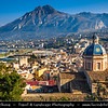 Italy - Italia - Sicily - Sicilia - Palermo Surrounding - Wonderful Church with Mountain in the background