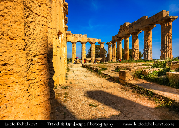 Italy - Italia - Sicily - Sicilia - Selinunte - Ancient Greek archaeological site with ruins of the Greek temples on the south coast of Sicily - One of the most important of the Greek colonies in Sicily