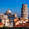 Italy - Tuscany - Toscana - Pisa - Piazza dei Miracoli - Baptistery, Duomo and Leaning Tower - Torre Pendente - UNESCO World Heritage Site